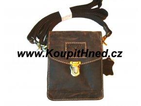 Kožená kapsička na opasek a rameno