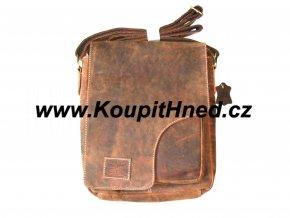 Kožená taška s překlopem