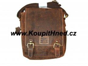 Kožená taška s překlopem dvojklipka