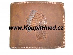 Kožená peněženka Indián