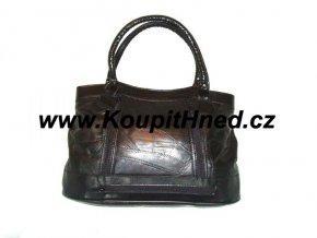 Kožená kabelka s dlouhým řemenem