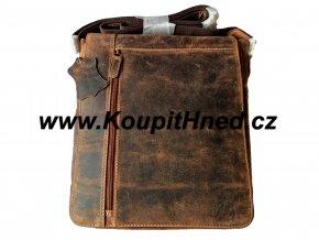 Pánská kožená taška s překlopem