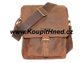 Kožená taška přes rameno vetší