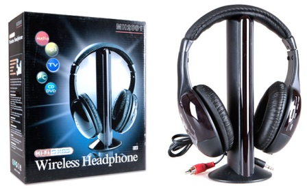 Bezdrátová multifunkční sluchátka 5v1 s vestavěným FM rádiem