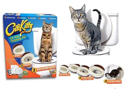 WC sada pro kočky