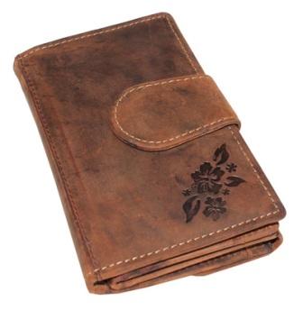 Kožená dámská peněženka střední