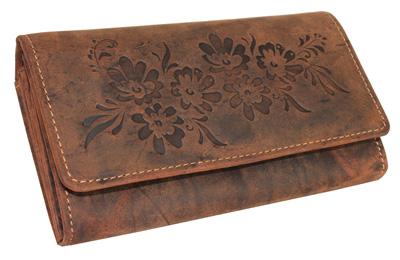 Kožená dámská peněženka dlouhá