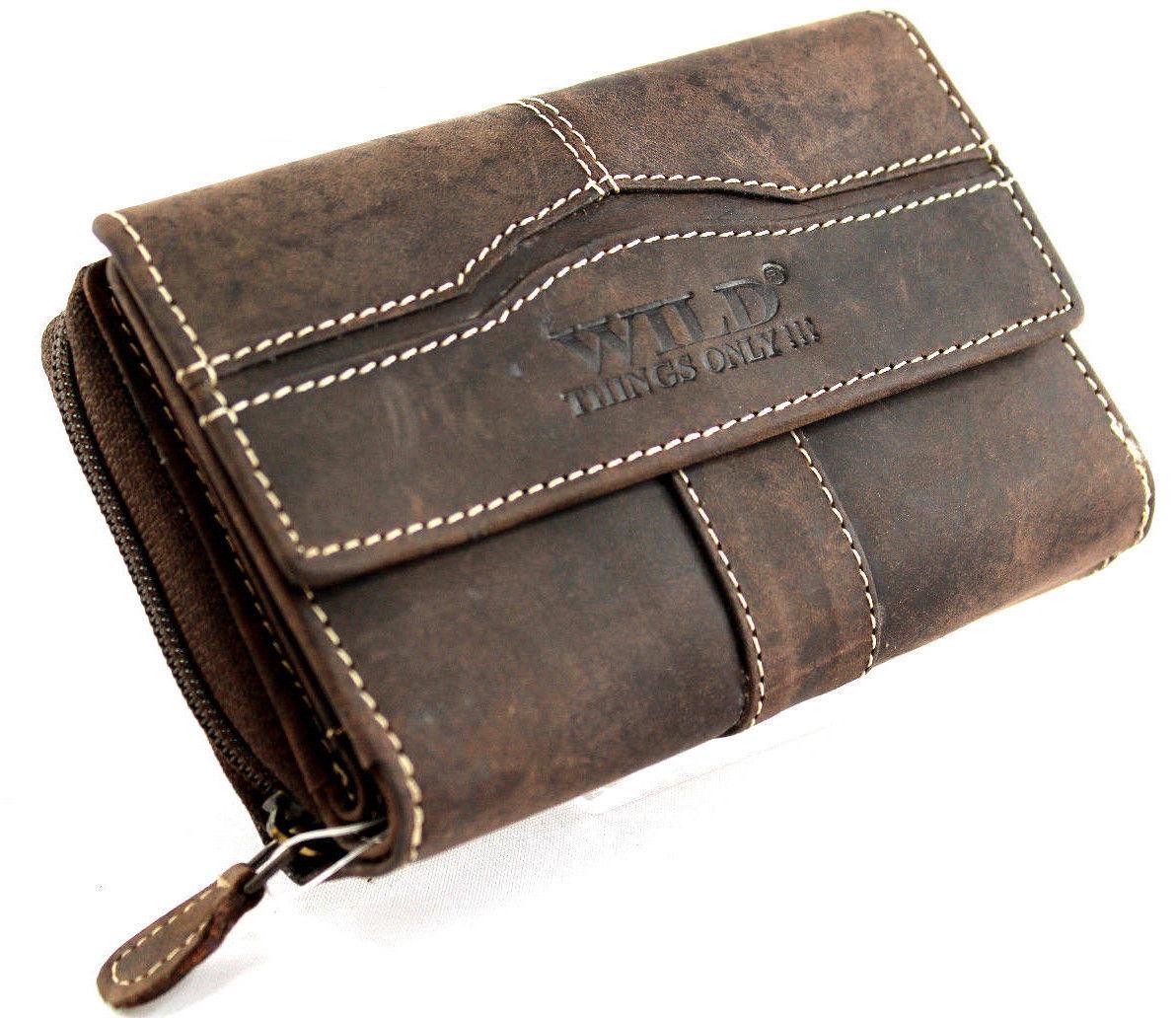 Kožená malá peněženka WILD