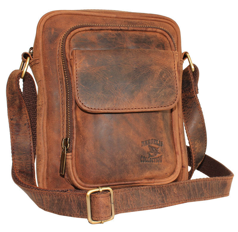 Pánská kožená taška střední