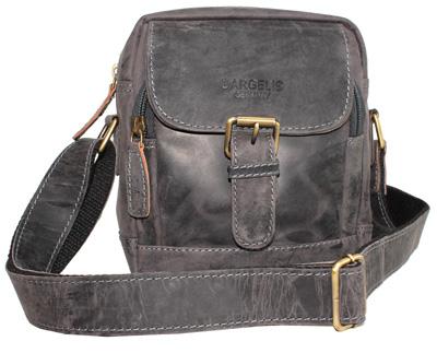 Kožená taška přes rameno černá