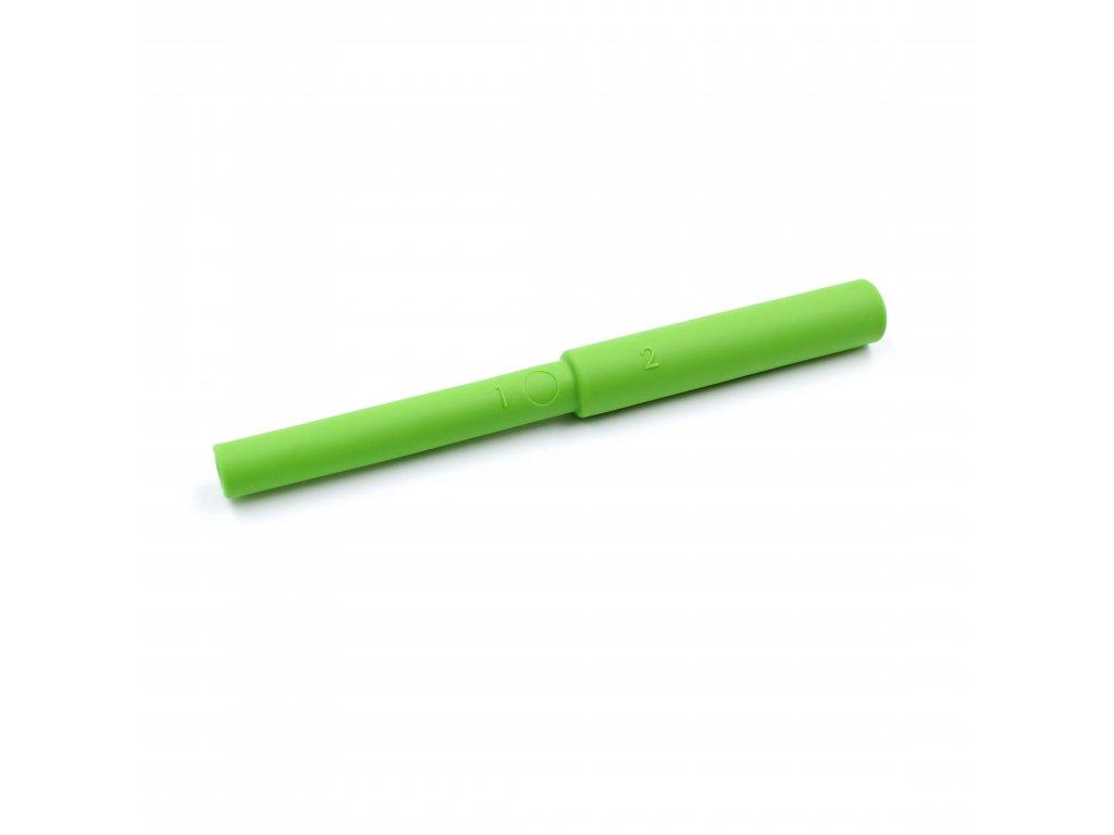 Bite Tube žvýkací trubička hladká Ø10 / Ø12 Středně tvrdá Světle zelená