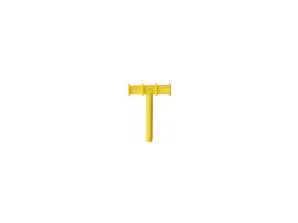 Chewy Tube žvýkací trubička hladká Ø10mm Měkká Žlutá