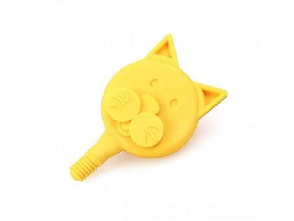 KOČKA nástavec pro logovibrátor Z VIBE Žlutý