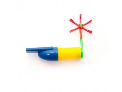 Píšťalka s vrtulkou různé barvy (2ks v bal.)