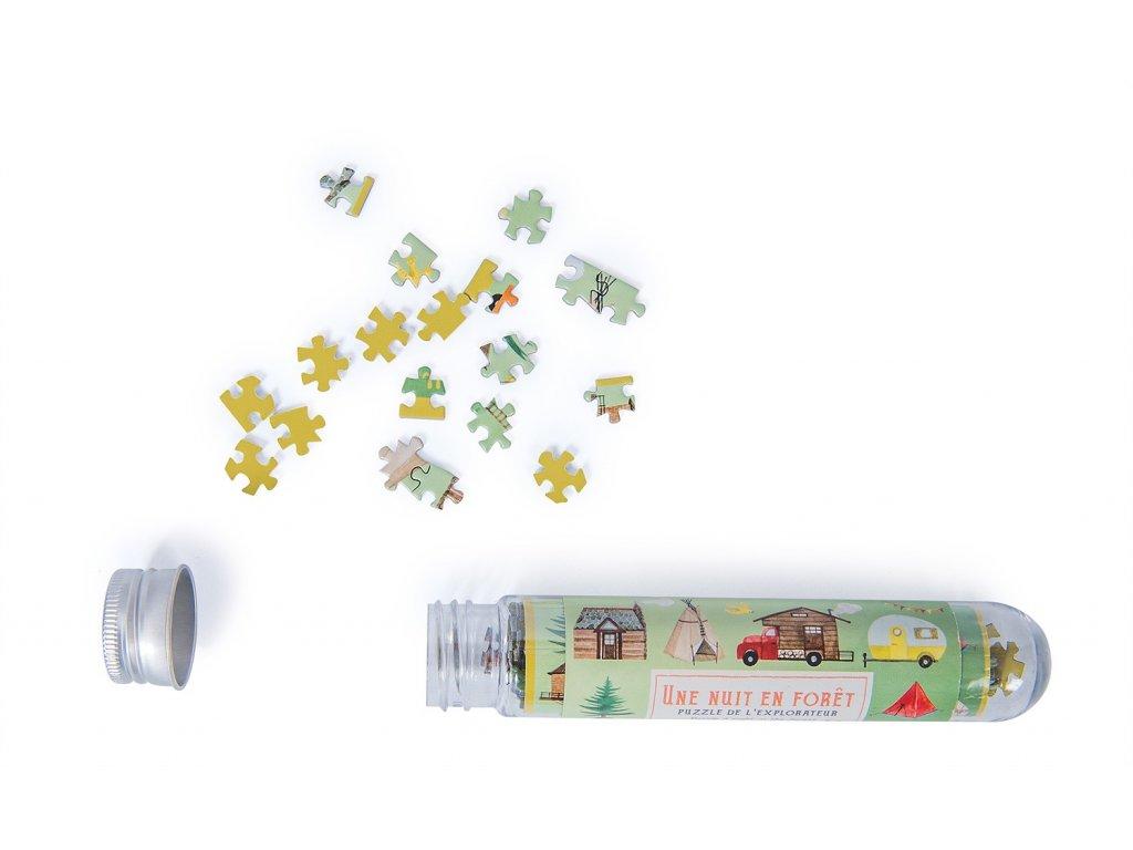 Mini puzzle Une nuit en foret 150 pieces Le Jardin du Moulin Moulin Roty