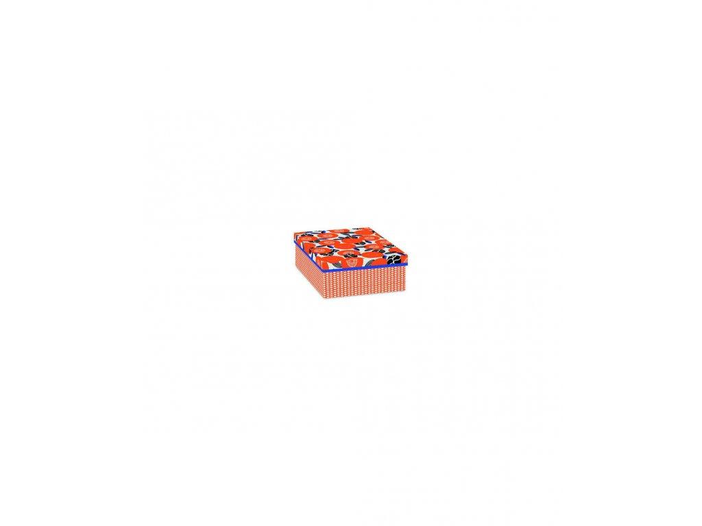 Designová krabice Červené květy