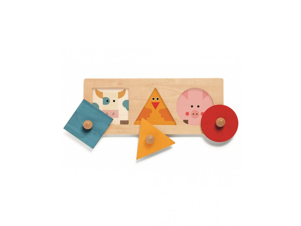Vkládací puzzle geometrické tvary