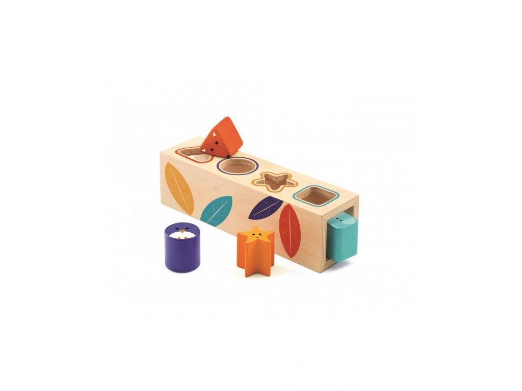 DJECO Vkládací tvary barevná zvířátka