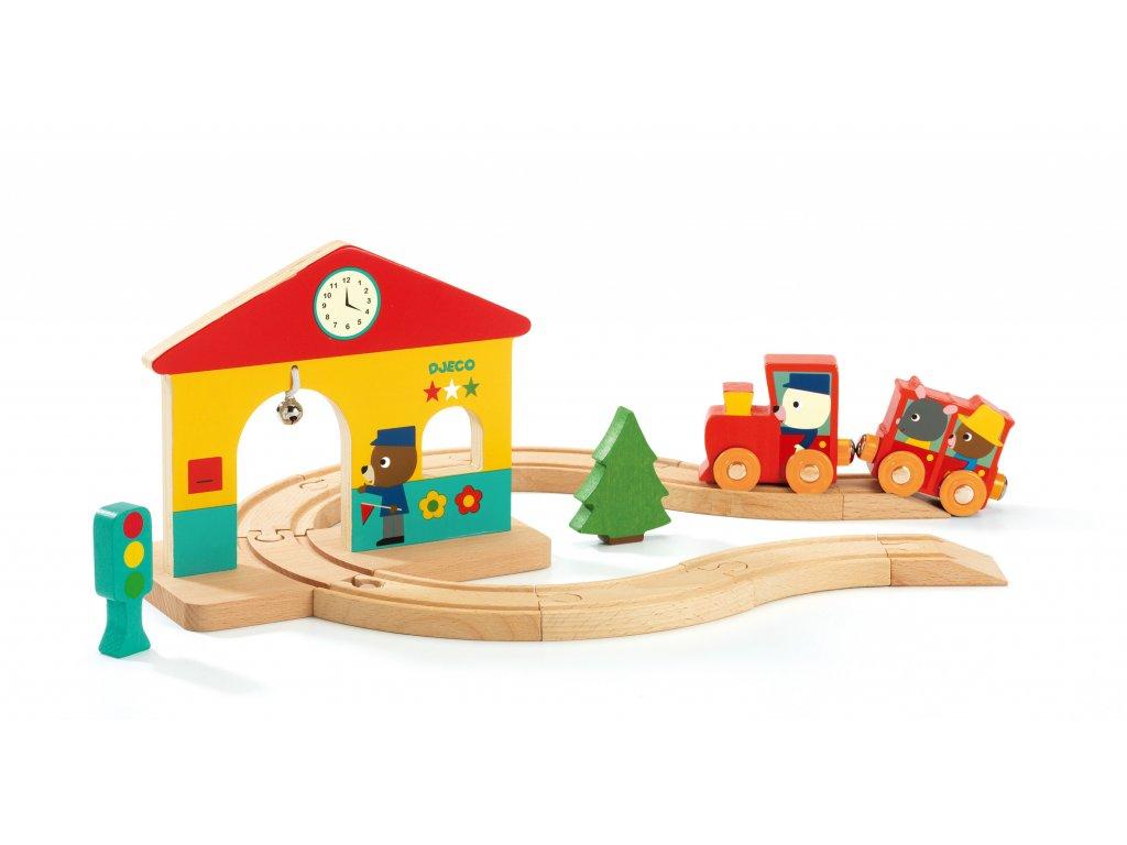 Dřevěný set Železnice