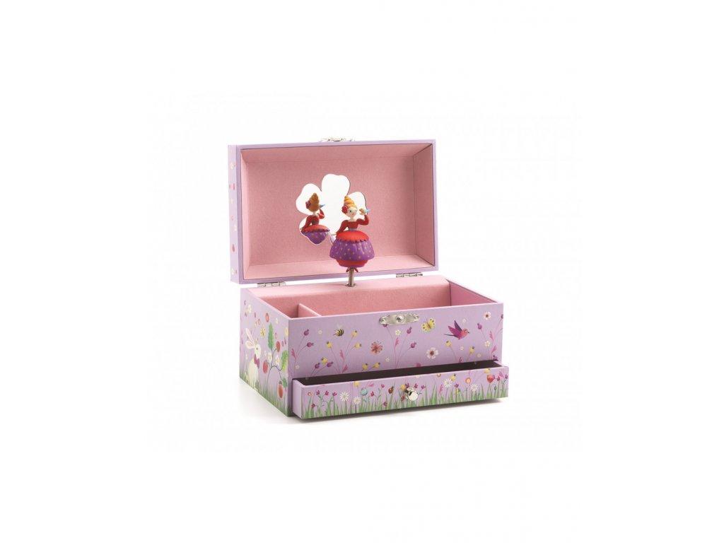 Hrací skříňka Holčička s ptáčkem