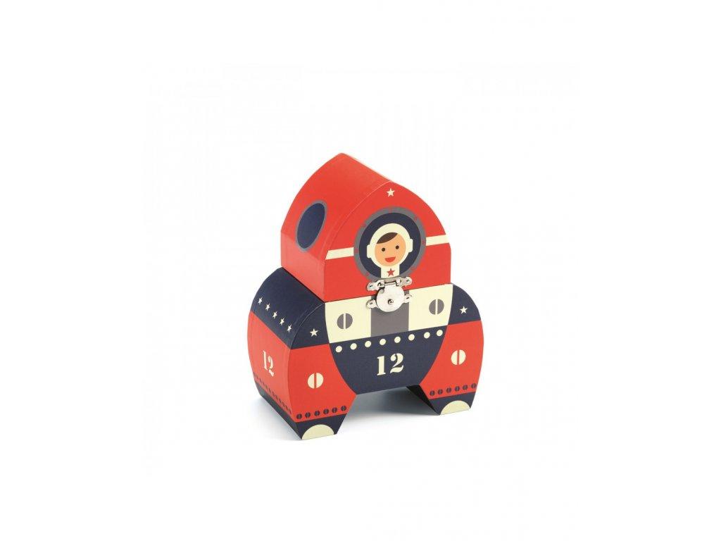 hrací skříňka ve tvaru kosmické lodi Apolo 12