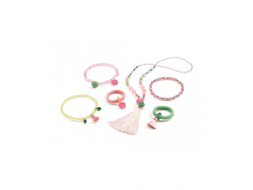 Šperky se střapci růžové