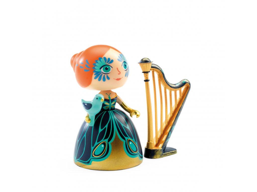 Figurka Elisa s harfou