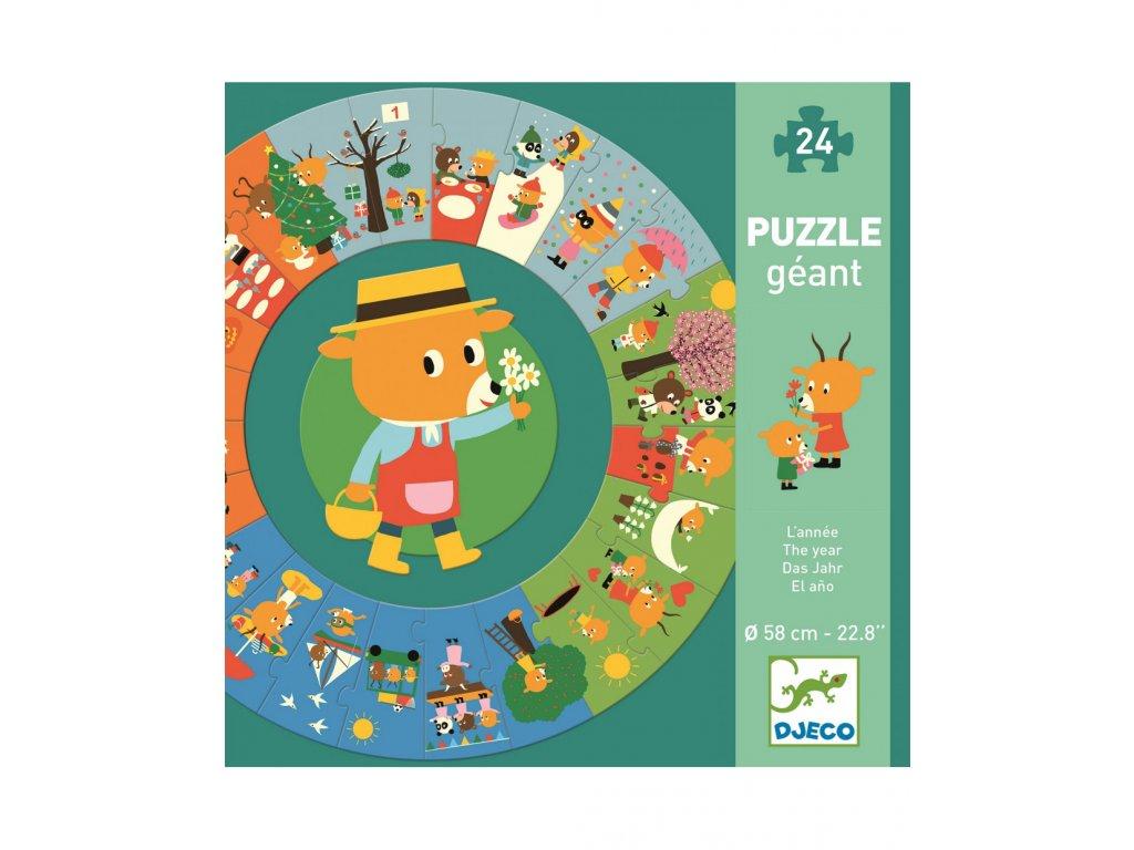 DJECO Puzzle gigant - Rok zahradníka