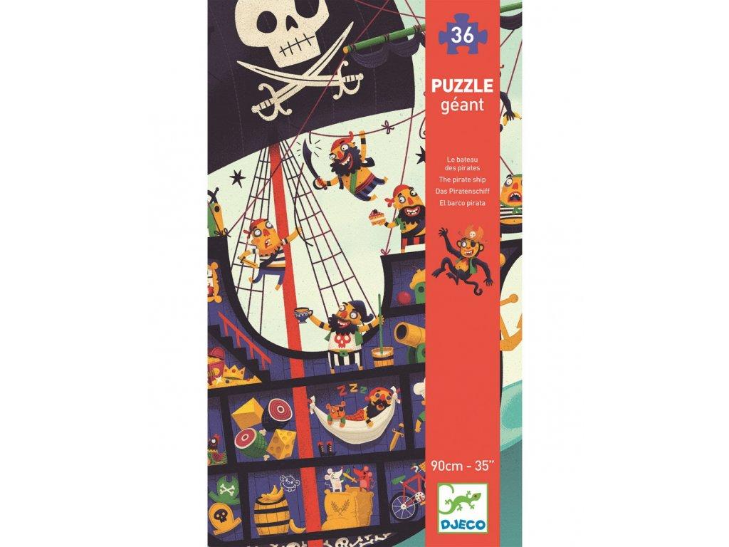 DJECO Velké puzzle pirátský koráb