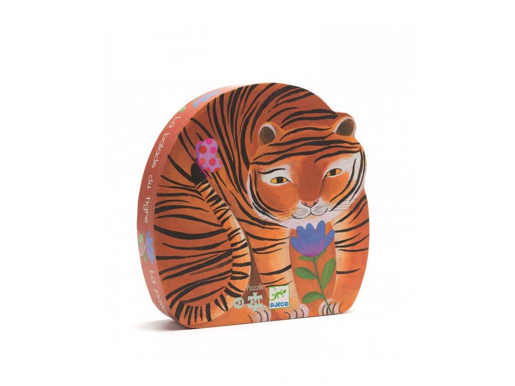 DJECO Puzzle Tygr na procházce - 24 dílků