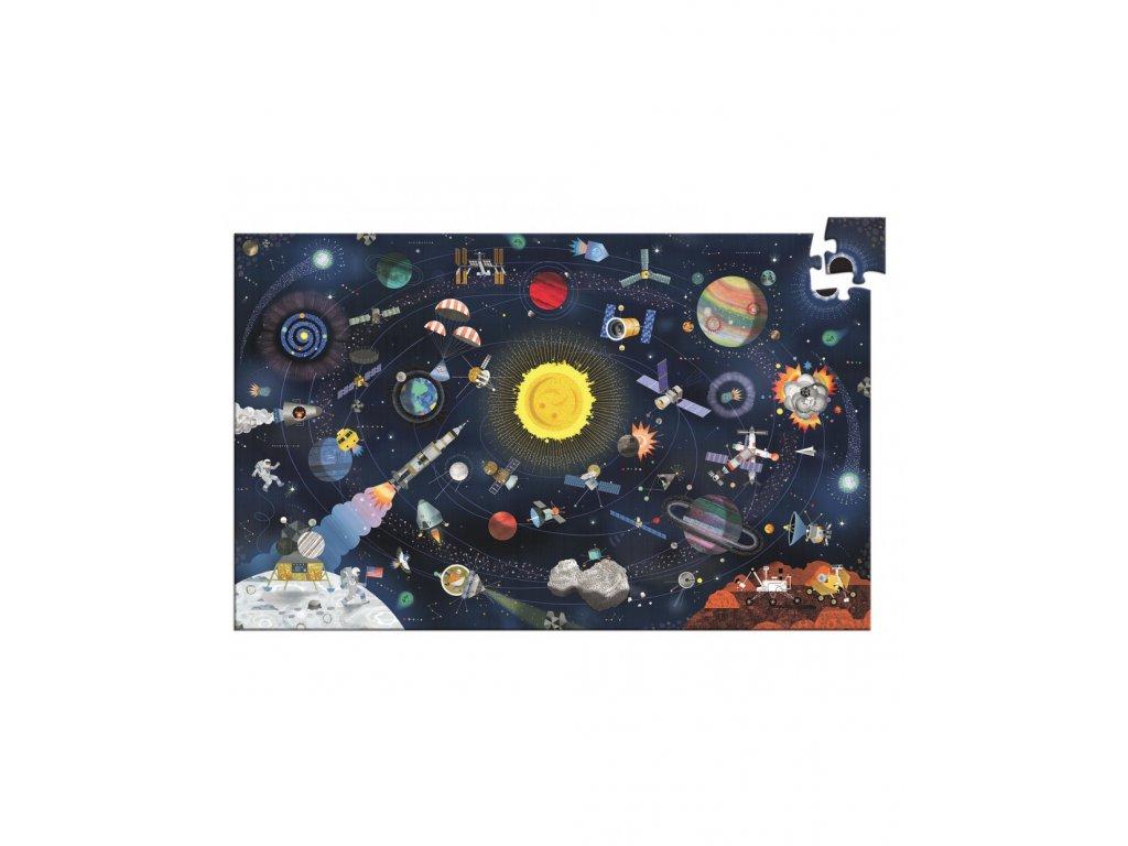 DJECO Puzzle Vesmír s popisem