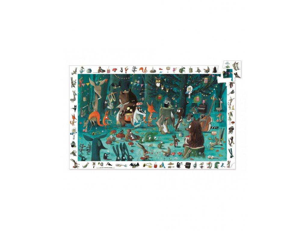 DJECO Vyhledávací puzzle Lesní orchestr