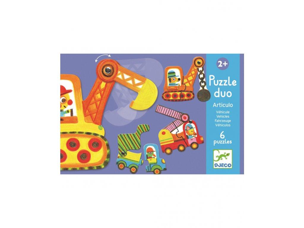 DJECO Duo puzzle Autíčka v pohybu
