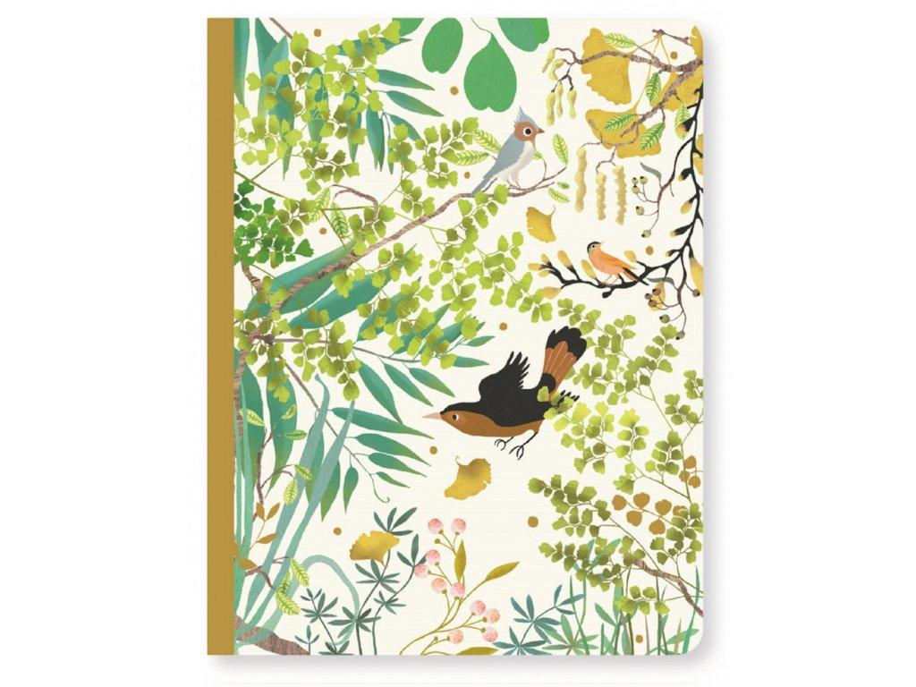 DJECO Krásný designový zápisník Tina a ptáček