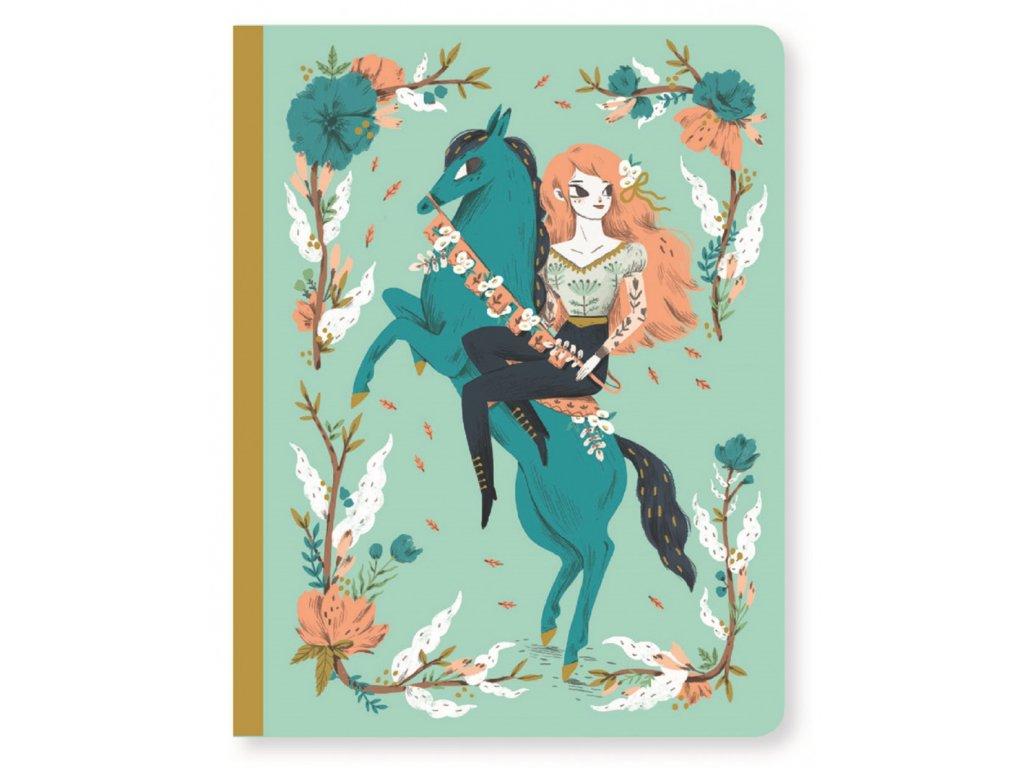 DJECO Krásný designový zápisník  Lucille a koník