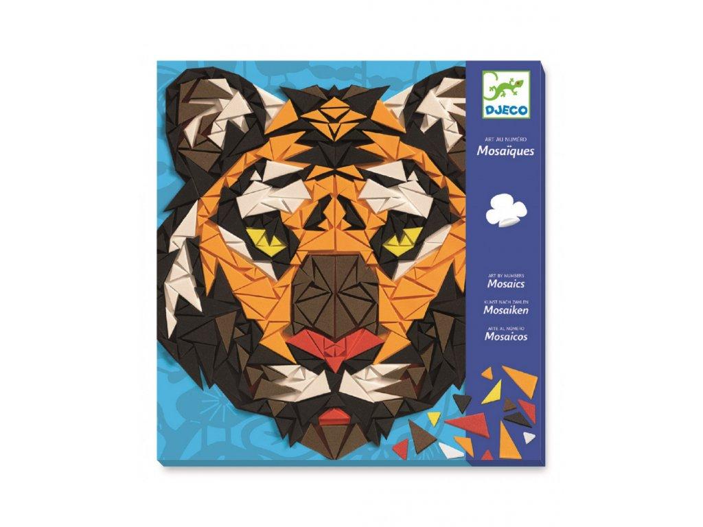 DJECO Mozaika ZOO - Tygr a Gorila