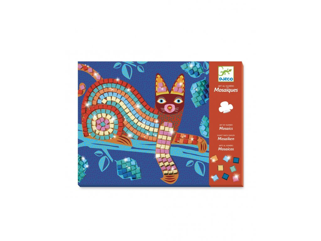 Mozaika metalická Kočka