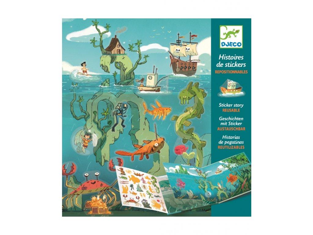 Příběh s přemístitelnými samolepkami Podmořská dobrodružství