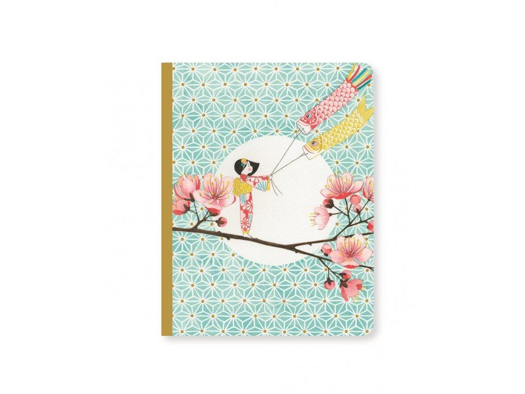 DJECO Krásný designový zápisník Gejša