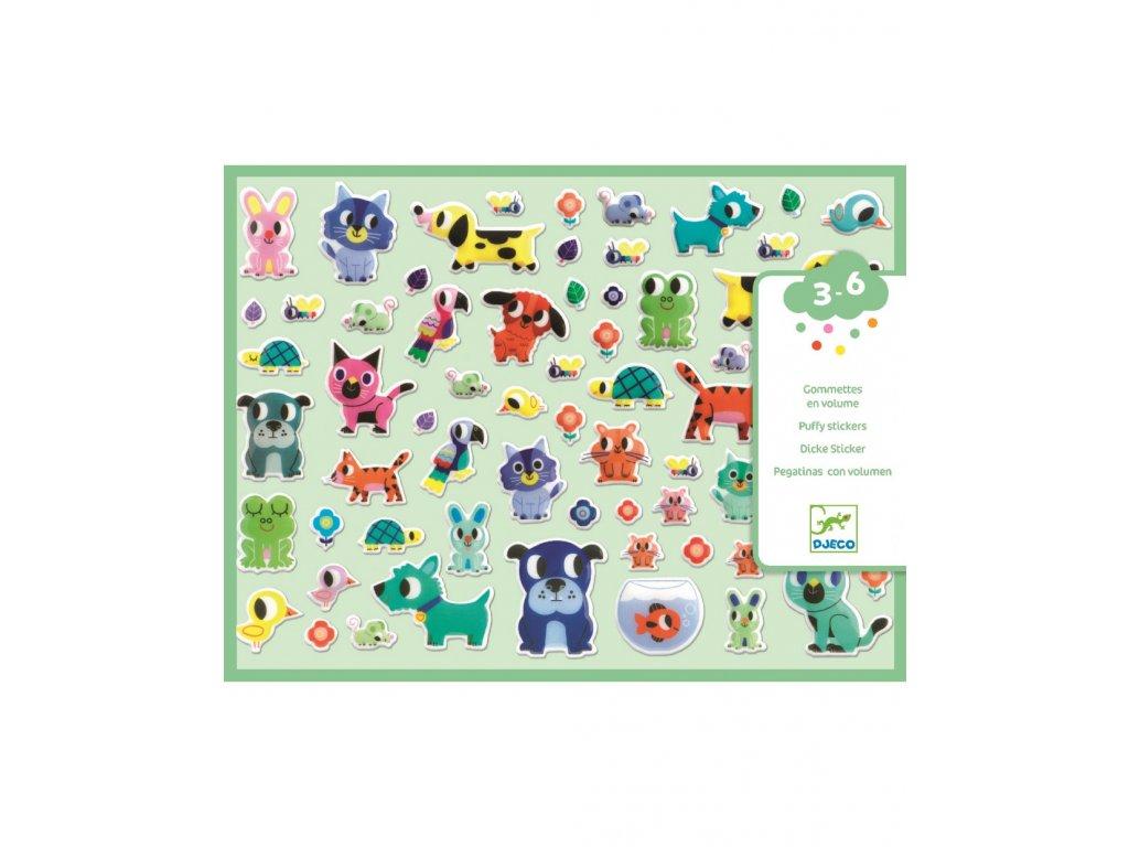 Set plastických samolepek zvířecí kamarádi