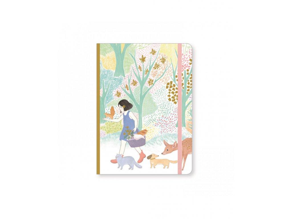 Krásný designový zápisník Cyndi s gumičkou