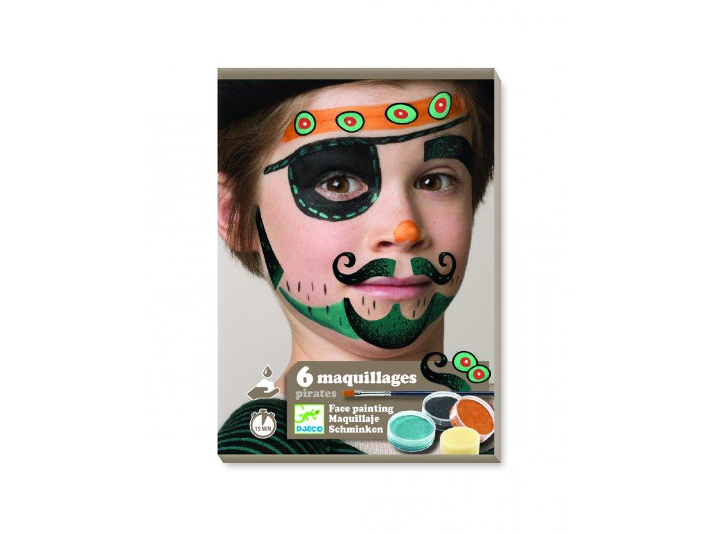 Malování na obličej Pirát