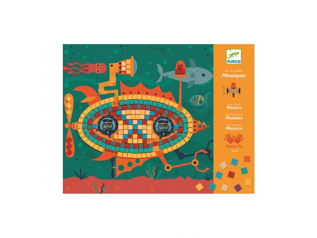 Pestrobarevná mozaika Stroje v pohybu
