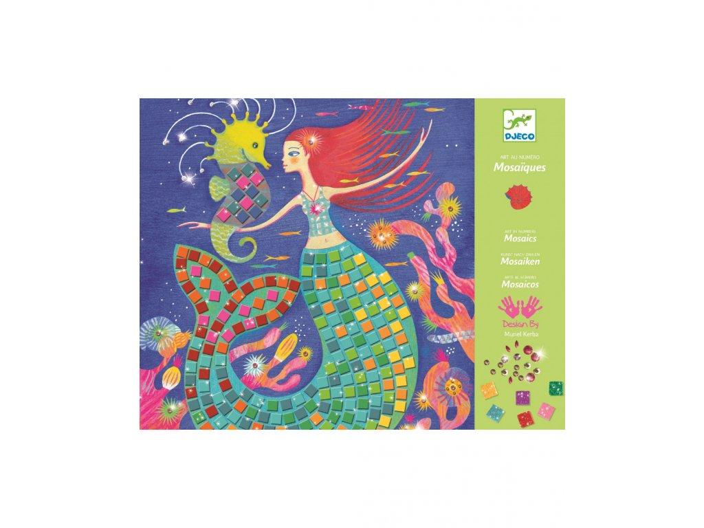Perleťová mozaika Mořské panny