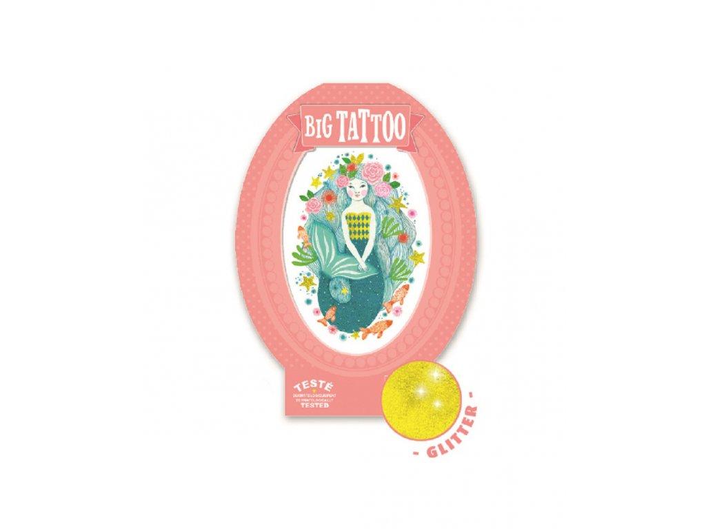 DJECO Velké tetování se třpytkami Mořská panna