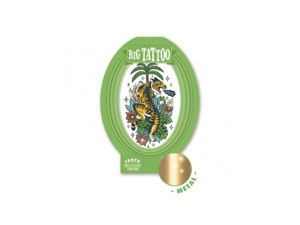 Velké tetování metalické Tigr