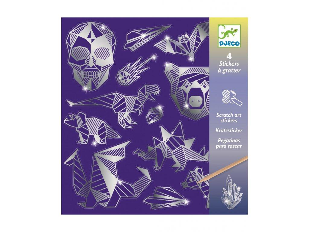 DJECO Vyškrabávací obrázky - Metalické ornamenty