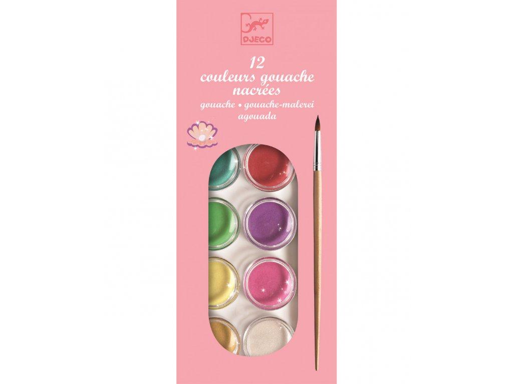 Vodové barvy - perleťové