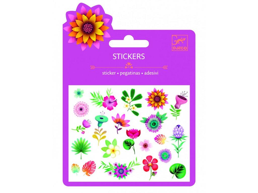 Malé samolepky Tropické květiny