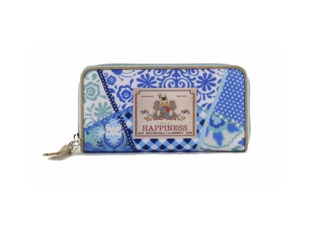 happiness wallet large yucatan blue